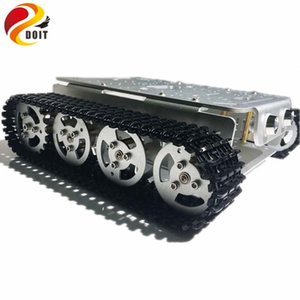 4 roues motrices sur chenilles Robot intelligent Châssis avec roues en alliage d'aluminium / Frame 2 moteurs pour modification Tank Modèle Robot projet RC Toy
