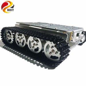 4WD Raupen Roboter-intelligente Chassis mit Aluminium-Felgen / Frame 2 Motoren für Modification Tanks Model Robot Projekt RC Spielzeug
