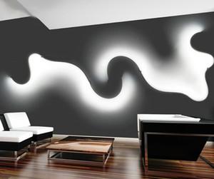 Lampe LED mur nordique Blanc Noir Creative Applique murale à LED Salon nuit Chambre Intérieur Aisle Home Decor Lighting FEDEX Expédition