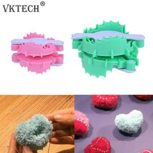 Kalp Shape Pompon Seti Plastik Pom Maker Fluff Topu Weaver İğne Craft Tezgah Örme Aracı Örme biriktirme Dikiş Araçları