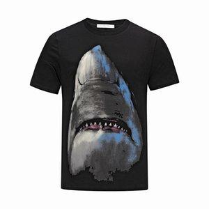 Luxury Mens Designer T Shirt Designer Casual Short Sleeves Fashion Shark Printing High Quality Men Women Hip Hop black Tees