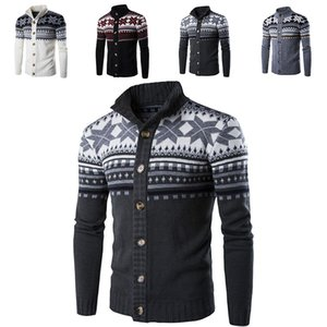 Autumn winter Mens sweater Christmas Snowflake Cardigan Coat Casual Sweaters Cardigan Knitwear Jacket Xmas Home Clothing Free DHL WX9-1147