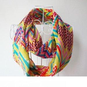 Moda donne sciarpa Infinity Sciarpe Chevron Saluto Stampa Sciarpa Circle Loop