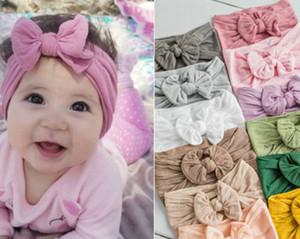 Yeni 23 Renkler Bebek Bantlar Yaylar Çocuk Yumuşak Bantlar Hairbows Kız Bebek Saç Aksesuarları ilmek Hairband
