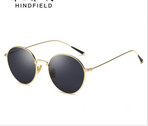 Personality Retro Metal Circle Sunglasses Fashion Ocean Movie Street Shot Sunglasses for Men and Women