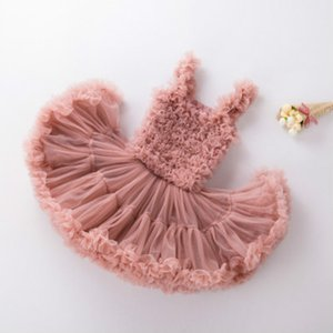 Crianças Designer vestido Tutu Meninas marca Princess Vestidos Meninas Moda Camisole Tutu Crianças Luxo Verão saia vestido de renda Top Quanlity