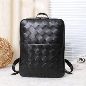 zaini di moda di lusso del Mens autentico Zaino in pelle di fascia alta borsa a tracolla di marca bookbag tessuto nero zaino, 407.647