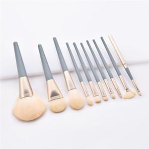 60set New 10pcs  Set Blue Makeup Brushes Set Eye Shadow Concealer Eyelash Foundation Face Brush Cosmetic Brush Kit Beauty Item