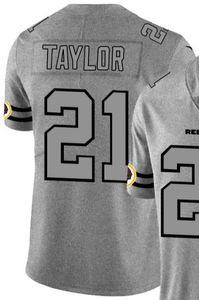 Chanvre Ash Throwback Limited Jersey Man Washington 21 hommes Chemises jersey Toutes les équipes maillots de football américain