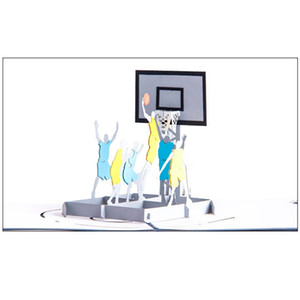 3D Handmade Play Basketball Dunk Invitation Greeting Cards Creative PostCard Creative