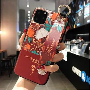 적용 가능한 새로운 iphone11promax 휴대 전화 쉘 팔찌 애플 보호 커버 창조적 명품 디자이너 전화 케이스