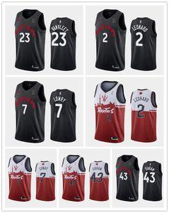 TorontoRaptorsErkekler Pascal Siakam Fred Vanvleet Kyle Lowry Kawhi Leonard 2018-19 X ovoNBA basketbol Jersey