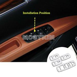 Maserati 지브리 2014-2019에 대 한 ABS 자동차 도어 팔걸이 창 스위치 커버 4pcs