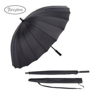 Fancytime Large Golf Umbrella Rain Women 24 Bones Windproof Male Walking Stick Umbrellas Men Good Quality Strong Umbrella T8190619