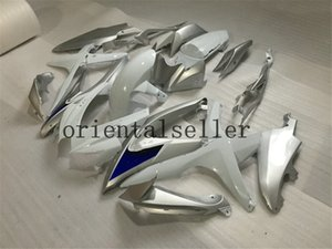 GOOD For SUZUKI GSXR 600 750 GSX R750 R600 GSXR600 08 09 10 GSX-R750 GSXR-600 K8 GSXR750 2008 2009 2010 silver white black Fairing kit Aa31