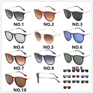 Hot 4171 Gafas de sol para hombre Mujer Erika Eyewear Designer Brand Gafas de sol Matt Leopard Gradient UV400 Lentes 10 colores