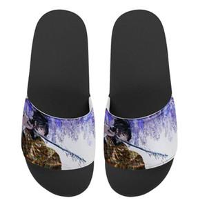 Grafica Sword Art Online personalizzate pantofole Estate Uomo Casual diapositive sandali esterna antiscivolo Scarpe spiaggia resistente infradito