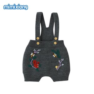 Baby Rompers Clothes Sleeveless Vintage Floral Knitted Newborn Bebes Girls Jumpsuits Tops Autumn Winter Infant Children Sweaters