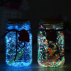 Glow in the Dark Gravel Stickers Luminous Noctilucent Sand Fish Tank Aquarium Fluorescent Particles Wedding Party Decoration DIY