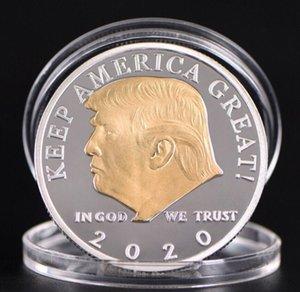 2020 Trump Coin Craft Souvenir Commemorative Coins American 45th President Donald Gold Silver Metal Badge Collection wholesale free ship