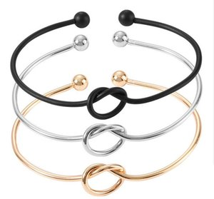 Silber Gold Kupfer Erweiterbar Open Wire Bangles Für Liebe Knoten Manschette Armbänder Bangle Für Kinder und Erwachsene