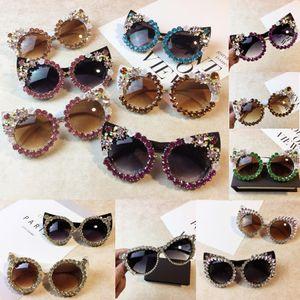 Las gafas de sol de diseño rhinestones de los cristales atractivos ojos de gato gafas de sol sombras Vintage Eyewear 19 estilos para choicesar
