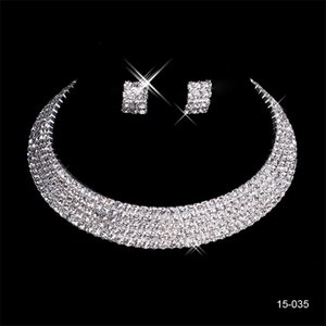 150-35 Mariage De Charme Ensembles Ensembles Accessoires Bijoux Collier Boucle D'oreille Ensemble Bijoux De Partie pour La Fête De Mariage Mariée
