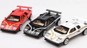 (Boxed) vintage supercar Modell scheren Tür Sportwagen 01.32 Ton und Licht zurück Auto Spielzeug Amazon