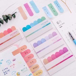 Bunte Notizblock Sticky Notes Notebook Index Hinweis-Aufkleber selbstklebendes Papier Aufkleber Stationry Schule Bürobedarf