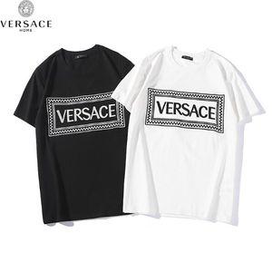2019 Explosion stickerei brief t-shirt männer frauen hochwertige box buchstaben casual fashion kurzarm