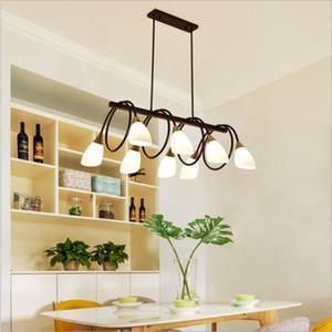 Lampadari moderni Nero 6 8 10 Luce moderna sala da pranzo apparecchi di illuminazione Hanging, cucina ad isola Cage luci a sospensione con bulbo libero