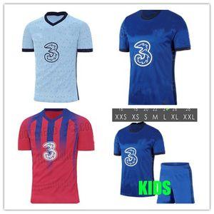 20 21 WILLIAN PULISIC Fútbol KOVACIC Jorginho GIROUD KANTE PEDRO 2020 2021 Batshuayi hogar lejos tercer hombre kit de niños Camisetas de fútbol