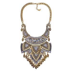 Collare Collana lunga perline Donne Big Fashion-Bohemian nuovo modo di marca dell'annata Choker Maxi Normativa collana GIROCOLLO