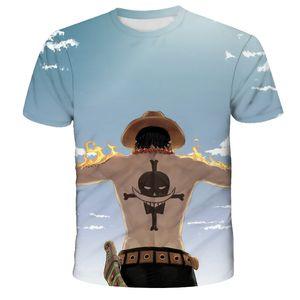 Estate degli uomini vestiti di un pezzo uomini della maglietta della scimmia D Luffy magliette manica corta in cotone O-collo t-shirt cool anime Tee shirts