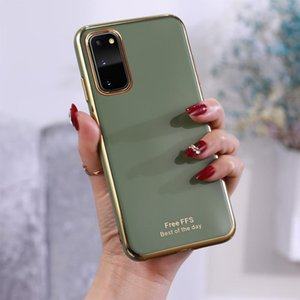 For Galaxy S20 6D Plating TPU Protective Case