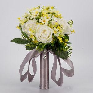 Günstige Pinterest Handgemachte Bridesmaid Hochzeit Dekoration Blumen Rose Brautbrautjunfer Wedding Bouquet Romantische Hochzeit Bouquet CPA1591