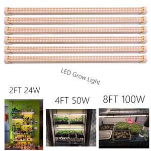 T8 LED Grow High Light Output pianta Grow Light Strip, Full Spectrum luce solare sostituzione con alta PAR per Indoor Plant