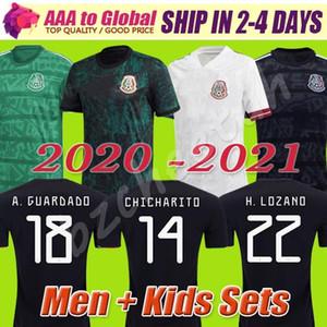Mexiko Cup 2021 T-Shirt Mexiko MX 20 21 MEN KIDS Fußball Jerseys CHICHARITO LOZANO DOS SANTOS GUARDADO Fußballfußballhemd