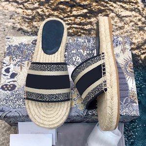 Designer Women Slippers Casual Fashion Lady Sandals Fishman Blue Logo Embroidery Blue Eepadrilles with Box White Cream Black Logo Shoes