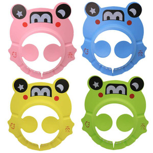 Children's cartoon bath ear shampoo cap baby baby shampoo cap EVA adjustable shampoo cap