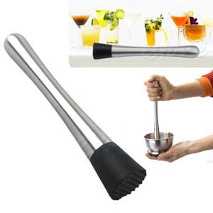Ice Cocktail Swizzle Stick Fruit Muddle Pestle Popsicle Sticks Acciaio inossidabile frantumato Ice Hammer Bar Tools Wine Tools Muddler Hammer