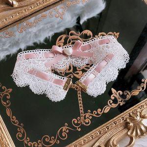 Lolita Origional Hand Made Halskette Daily Life Rosa Choker Süße von Bride Bow