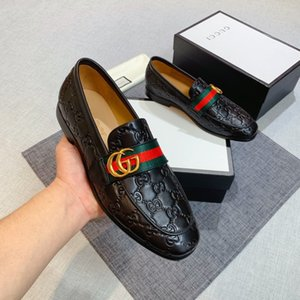 Mens Formal Party Shoes loafer Black Leather loafer with Web Men Luxury Designer Shoes Mens leather loafers With box