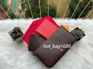 Классические женские дизайнерские сумки печатные цветы 3in1 цепная сумка кожаный кошелек карта Crossbody кошелек плечевой мессенджеров кошелек