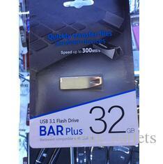 100 % 새로운 브랜드 바 플러스 32기가바이트 64기가바이트 128기가바이트 USB 2.0 USB 플래시 펜 드라이브 금속 고속 USB 플래시 드라이브 일년 보증 일일 파견 드라이브