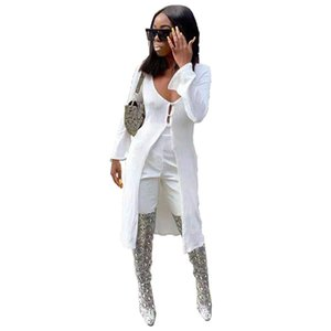 Women's Vests Fashion Solid Color Knit Long Cardigan Coat