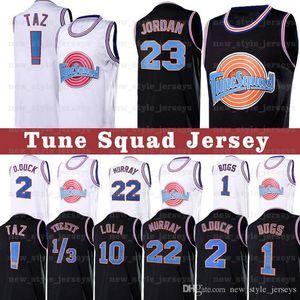 23 Michael Tune Squad Jersey Taz 1/3 Errores Tweety Jam conejito de película 22 Bill Murray 10 Lola 2 D.DUCK jerseys del baloncesto