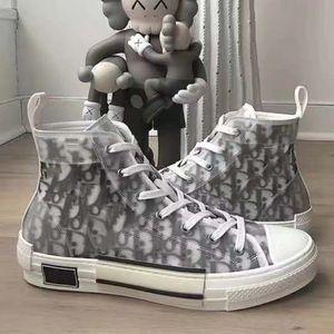 새로운 패션 버스트 판매 디자이너 운동화 남성 여성 블랙 그레이 화이트 패턴 높은 최고 직물 PU 패치 워크 Casaul 신발 크기 35-46