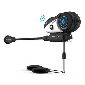 VIMOTO V6 Bluetooth Intercom Motorradhelm Interphone Headset Wasserdichtes drahtloses Bluetooth Moto Headset Interphone DHL geben frei