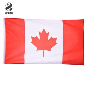 Bandera de Canadá 90 * 150cm para el partido de fútbol / Actividad / desfile / Festival de celebración decoración del hogar Decoración Canadá Banderas Nacionales